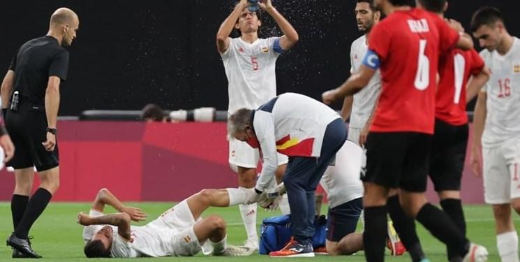 المپیک توکیو| مصدومیت دلخراش بازیکن رئال مادرید +تصاویر