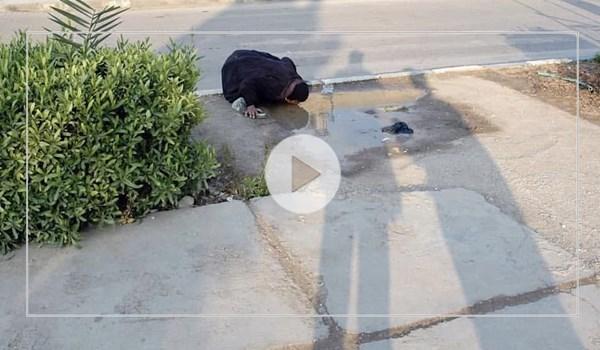 ماجرای عکس پرحاشیه زنی که مشغول آب خوردن است