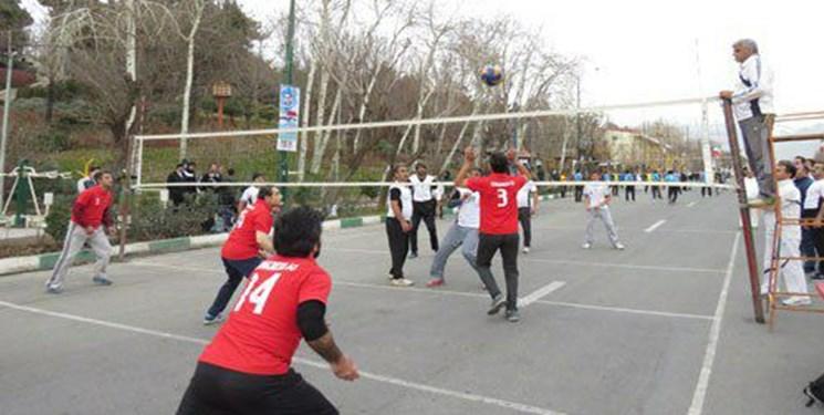 نخستین جشنواره مسابقات والیبال پارکی در بجنورد
