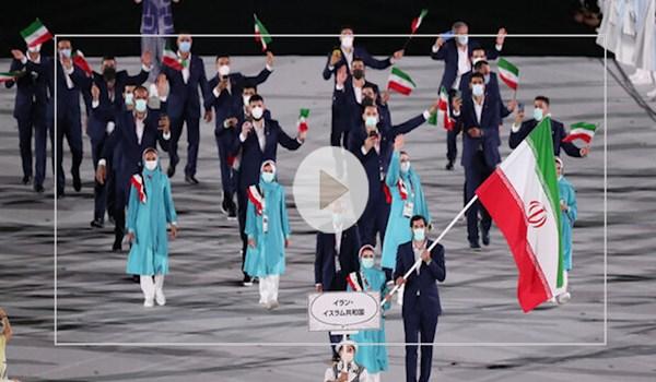 رژه کاروان ایران در افتتاحیه المپیک