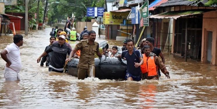 تلفات سیل در هند به ۷۶ نفر رسید؛ ۹۰ هزار نفر آواره شدند
