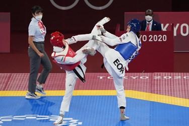 المپیک توکیو| گزارش تصویری از شکست نماینده تکواندو بانوان کشورمان