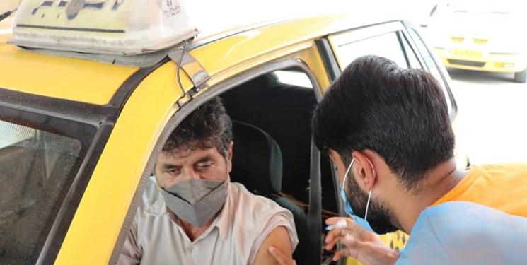 راهاندازی نخستین پایگاه واکسیناسیون خودرویی مازندران در پارک پردیس بابل