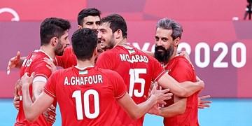 المپیک توکیو  دشت دومین پیروزی والیبال ایران/ دستگرمی در حد المپیک!