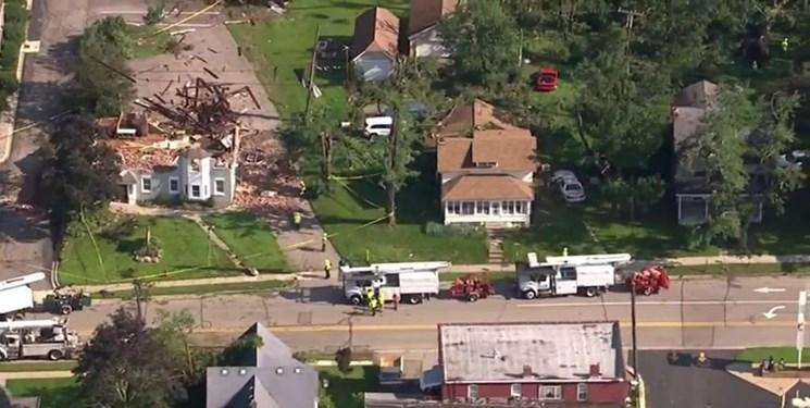 گردباد، برق هزاران آمریکایی را در میشیگان قطع کرد