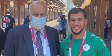 المپیک توکیو| مدال آزادی خواهی و مقاومت فلسطین بر گردن ورزشکار الجزایری+عکس