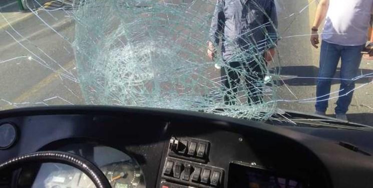 تصادف اتوبوسBRT در خط ویژه/ عابر پیاده جان باخت