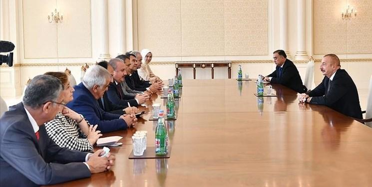 رایزنیهای پرتعداد باکو-آنکارا؛ رئیس پارلمان ترکیه با علیاف دیدار کرد