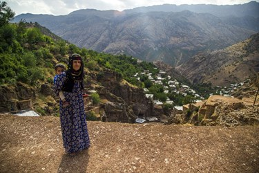 یکی از اهالی روستای ژیوار منطقه هورامان