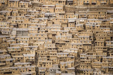 معماری پله کانی روستای دولاب منطقه هورامان
