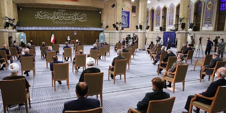 آخرین دیدار رئیس جمهور و اعضای دولت دوازدهم با رهبر انقلاب برگزار شد