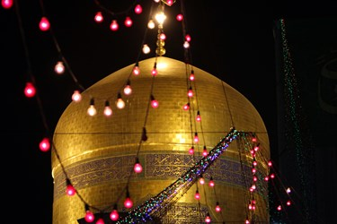 حال و هوای حرم مطهر رضوی در شب عید غدیر