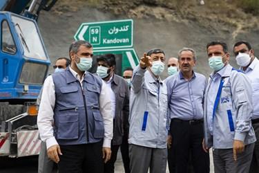 بازدید مهندس سیدپرویز فتاح رئیس بنیاد مستضعفان انقلاب اسلامی از بخش شرقی تونل البرز