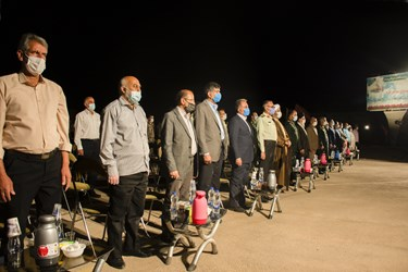 ادای احترام به سرود جمهوری اسلامی ایران