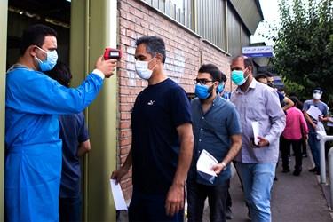 تب سنجی داوطلبان کنکور کارشناسی ارشد قبل از ورود به محل برگزاری جلسه آزمون