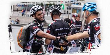 حمایت از فلسطین به سبک جدید/ تور دوچرخه سواری با شعار ضد صهیونیسم