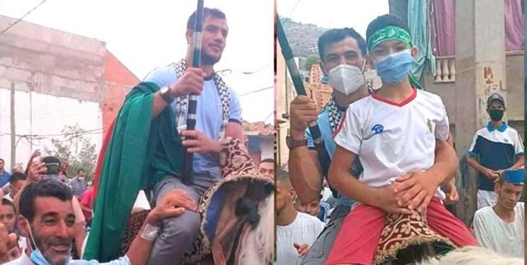 استقبال ویژه از ورزشکار ضدصهیونیست/ نورین سوار بر اسب عزت شد+عکس