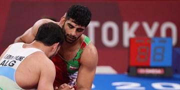 المپیک توکیو| تصاویری از مبارزه ۲ فرنگیکار در روز دوم