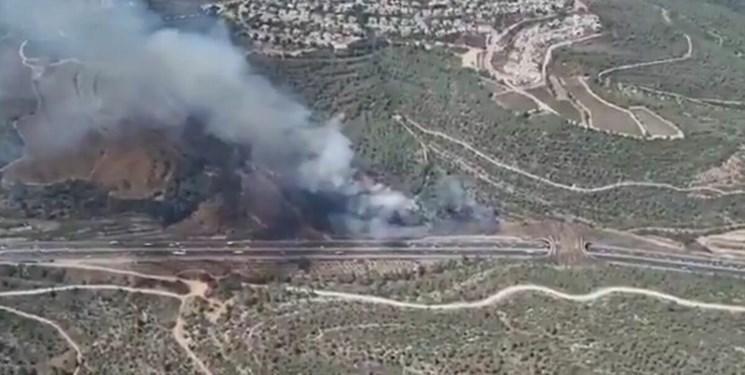 آتشسوزی  گسترده در غرب قدس اشغالی و بیم صهیونیستها از سرایت به مخازن سوخت