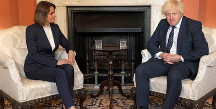 دیدار نخستوزیر انگلیس با رهبر مخالفان بلاروس