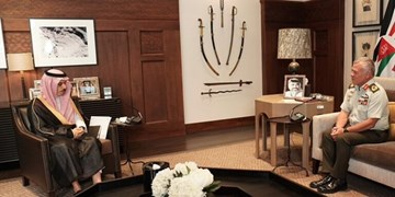 دیدار وزیر خارجه عربستان سعودی با شاه اردن
