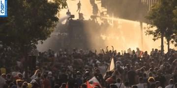 تظاهرات در بیروت؛ درگیری نیروهای امنیتی با معترضان
