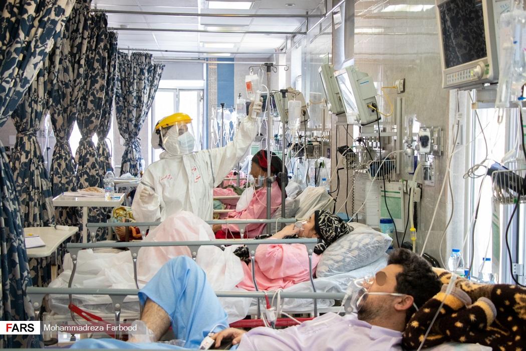بخش حاد یک بیماران کرونایی بیمارستان حضرت علی اصغر(ع) شیراز