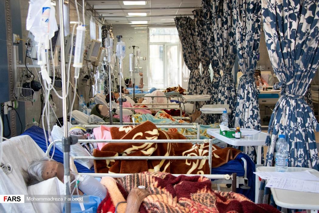 بیماران کرونایی بخش حاد یک بیمارستان حضرت علی اصغر(ع) شیراز