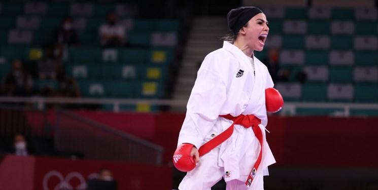 المپیک توکیو برد درخشان و لحظه آخری سارا بهمنیار مقابل کاراته کای قهرمان جهان+تصاویر