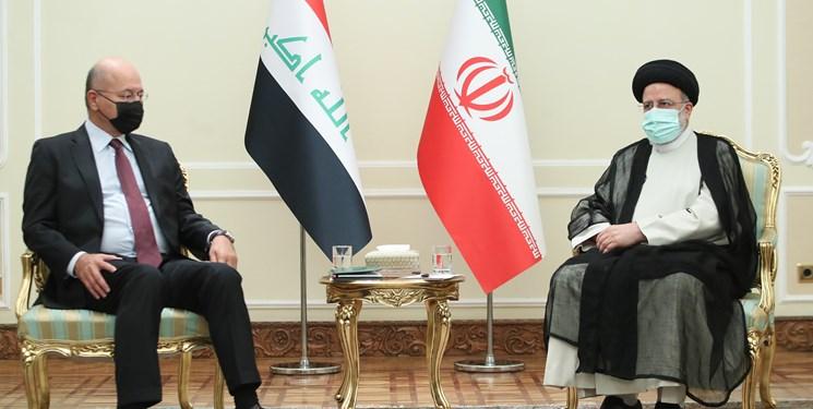 آیتالله رئیسی: ایران خواهان عراقی قوی و مقتدر است/ برهم صالح: ایران همواره یار روزهای سخت عراق بوده است