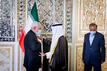 ورود  شیخ احمد ناصر المحمد الصباح وزیر امور خارجه کویت به وزارت امور خارجه ایران