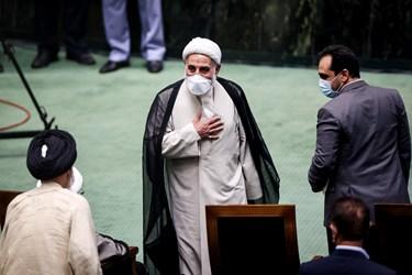 علیاکبر ناطق نوری در مراسم تحلیف رئیسجمهور