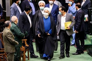 حسن روحانی رییس جمهور سابق در مراسم تحلیف رئیسجمهور