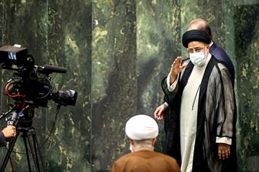 ورود سید ابراهیم رئیسی رئیس جمهورمنتخب در مراسم تحلیف