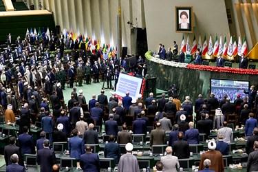 احترام به سرود جمهوری اسلامی ایران در مراسم تحلیف رئیسجمهور