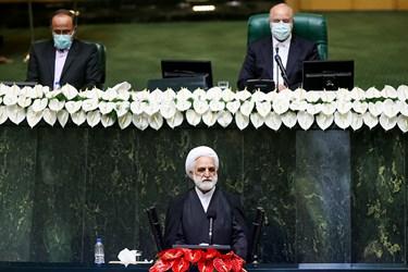 سخنرانی غلامحسین محسنی اژهای رئیس قوه قضائیه در مراسم تحلیف رئیسجمهور