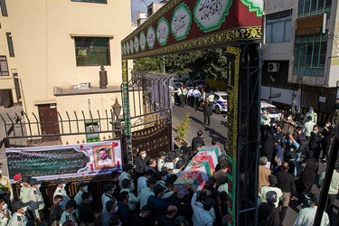 مراسم تشییع پیکر شهید ستوان سوم « یاسر طاهری»