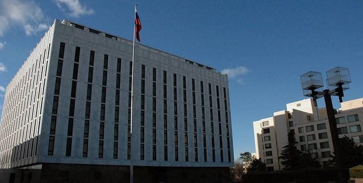سفارت روسیه: نظامیان آمریکا هیچ گونه مجوز قانونی برای ماندن در سوریه ندارند