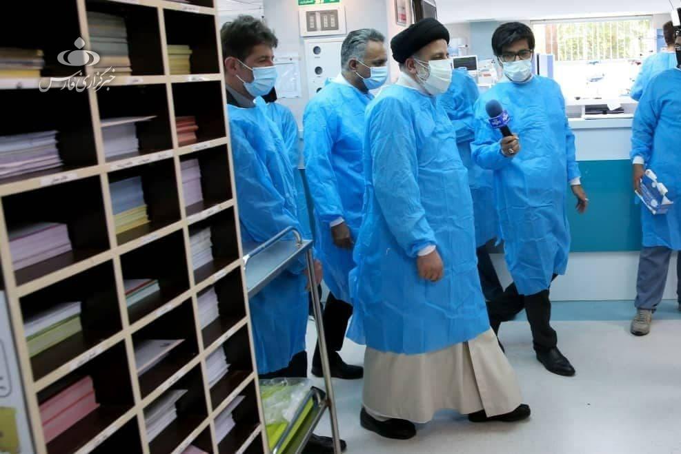 14000519001083 Test NewPhotoFree - بازدید سرزده رئیسجمهور از بخش کرونای بیمارستان امام خمینی (ره)