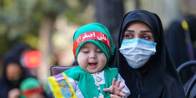 شیرخوارگان ایران نذر علی اصغر امام حسین (ع) شدند+عکس و فیلم