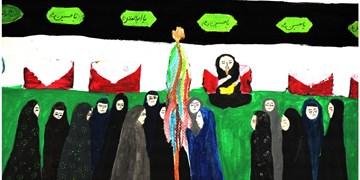 افتتاح ۲ نمایشگاه نقاشی عاشورایی کودکانه و قهوهخانهای + عکس