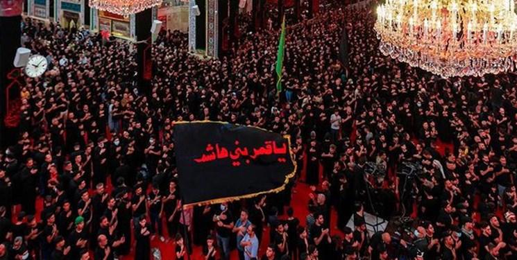 عزاداری پرشور  ایرانیان در کربلا همزمان با شب تاسوعا+فیلم