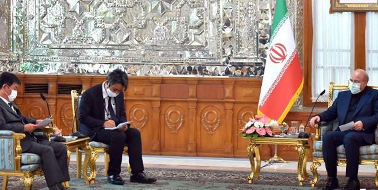 قالیباف خطاب به وزیر خارجه ژاپن: برای آزادسازی دارایی های ایران اقدام جدی انجام دهید