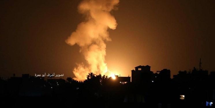 شمال، جنوب و غرب نوار غزه زیر حملات شدید صهیونیستها + فیلم