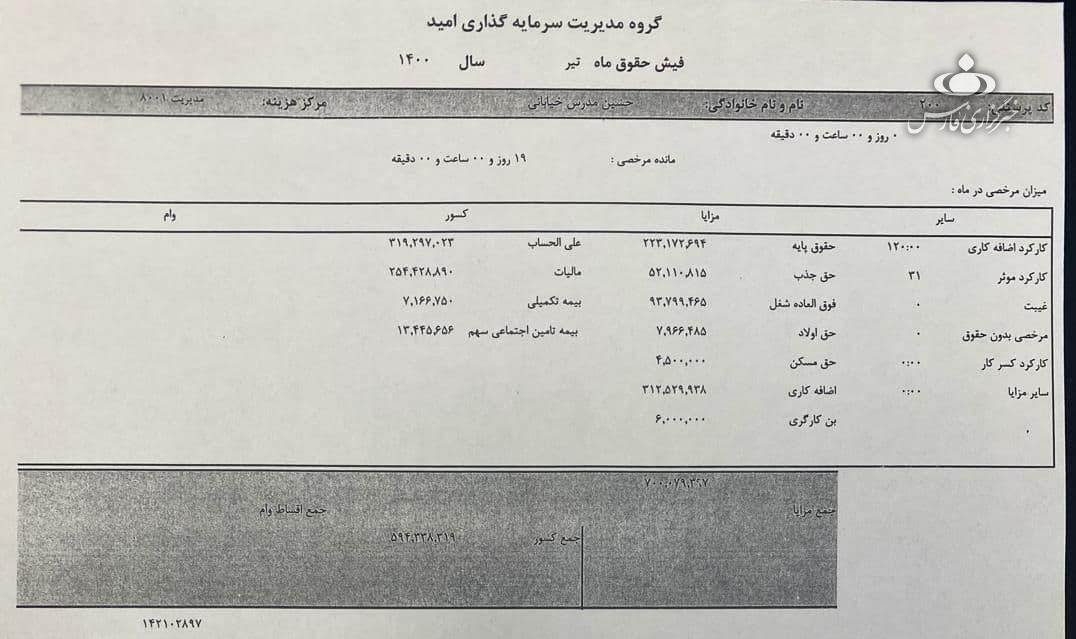 فیش حقوقی سرپرست وزارت صمت رسانهای شد