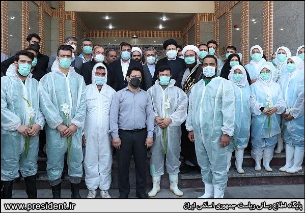 14000604000218 Test NewPhotoFree - رئیسی با کارکنان بهشت زهرا (س) دیدار کرد