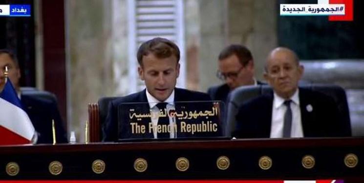 رئیس جمهور فرانسه: در عراق میمانیم حتی اگر آمریکا برود