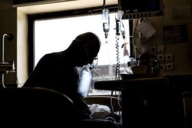 بخش ICU بیماران کرونایی بیمارستان بقیه الله(عج)