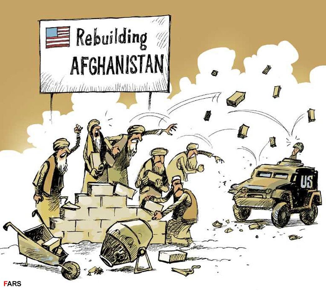 کارتون | توان بازسازیی افغانستان صرف جنگ شد!