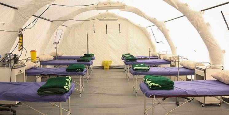 جمعآوری تریاژ صحرایی از محوطه بیمارستان امام حسن (ع) بجنورد